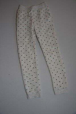 H&M light grey and spotted girls tracksuit bottoms - age 7 to 8 years