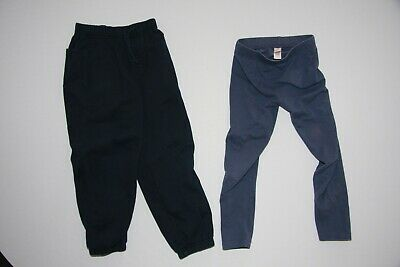 Girls blue tracksuit bottoms and blue leggings - (2 items) - Age 6