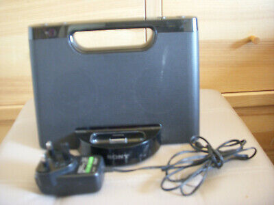 Sony Personal Audio Docking System RDP-M5IP for iPod iPhone. Good Working Order.