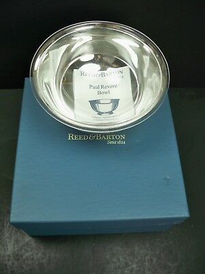 """Reed & Barton Paul Revere 6 1/2"""" 103 Bowl Silverplate W/Liner & Box Reproduction"""