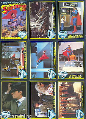 Superman III (3) - Complete 99 Trading Card Set - 1983 Topps - NM