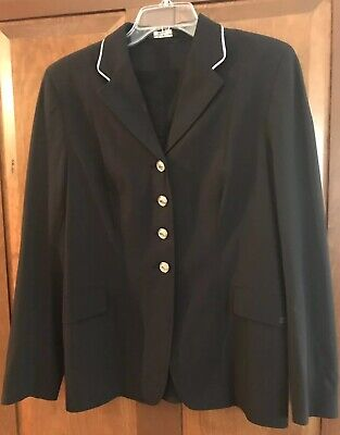 Grand Prix Soft Shell Show Jacket 16 T Black With White Piping