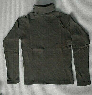 Vintage Polo-Neck Top - Age 14 Years Approx - Brown Ribbed - Cotton/Nylon - New
