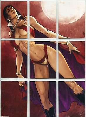 Vampirella Series 2 - The Genesis of - Complete Puzzle 9 Card Chase Set - NM