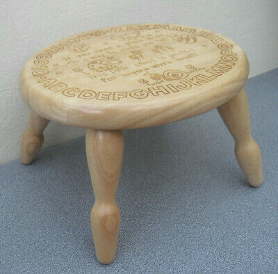 Wooden child's alphabet stool cute solid wood barely used