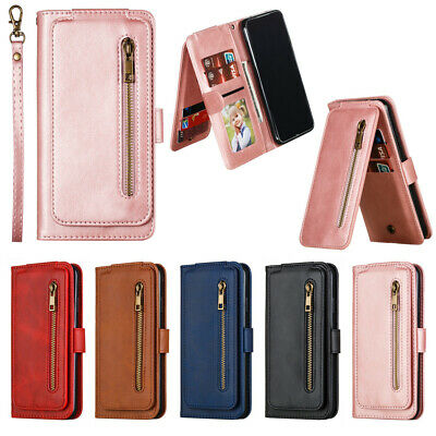 For Xiaomi Mi 9T Redmi 7A 8A K20 Note7/8 Pro Wallet Case Card Zipper Flip Cover