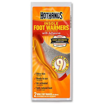 HotHands Insole Foot Warmers With Adhesive - Long Lasting Safe Natural Odorless