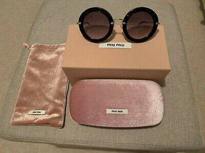 Miu Miu Smu 08R 49-28 1Ab-0A7 140 2N Round Women Sunglasses - New