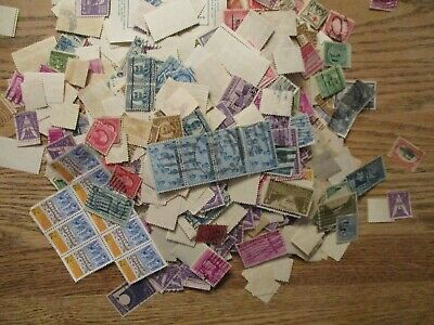 Box o Lot of U S  stamps off paper (some paper & foreign poss) unhecked 3.21lbs