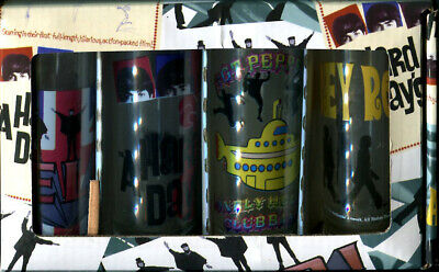 Beatles Glass Shooters Set Of Four 2 Ounce New In Unopened Box
