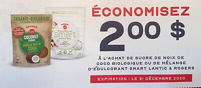 Lot of 10 x 2.00$ Lantic & Rogers Products Coupons Canada