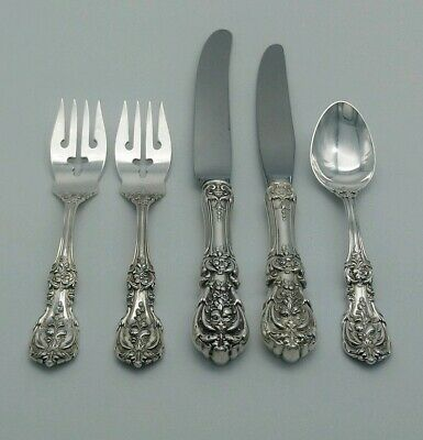 5 Reed & Barton Francis I Sterling Silver Flatware Pieces.