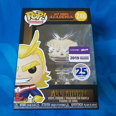 Nycc 2019 Funimation Funko Pop! My Hero Academia - Silver Chrome All Might