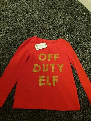 BNWT Girls Elf Christmas Top Next Age 5 Years