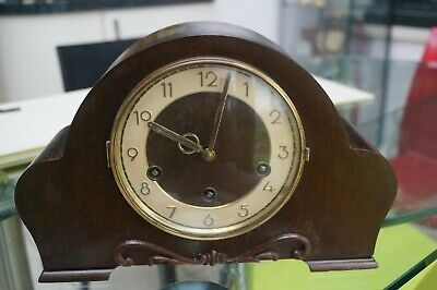 H.A.C. dual chime mantel clock.Westminster/Whittington.SEE VIDEO.