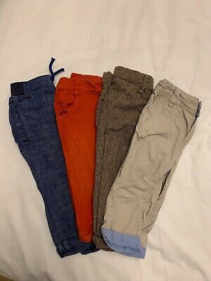 Baby Boys Bundle 4 pairs of trousers 6-9 Months