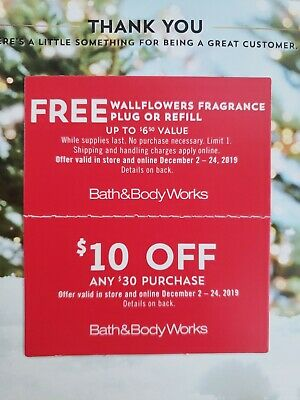 Bath & Body Works Coupons - Exp 12/24/19