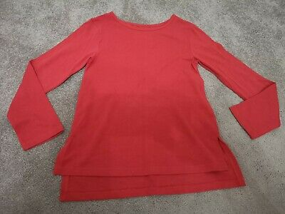 Girls Red Long Sleeved Top With Gold Shimmer Glitter Size - 8 Years