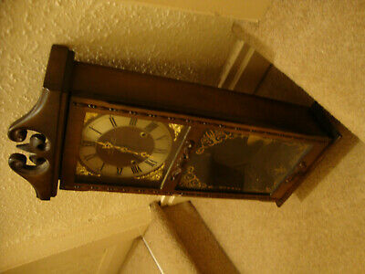 Antique President Wall Clock Wooden Quartz Pendulum Vintage. Spares Or Repair