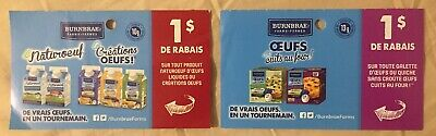 Lot of 10 x 1.00$ BURNBRAE Products Coupons Canada