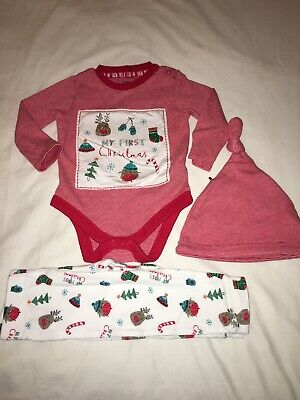 Baby's Unisex Christmas Outfit Nightwear Age 6-9 Months From F&F