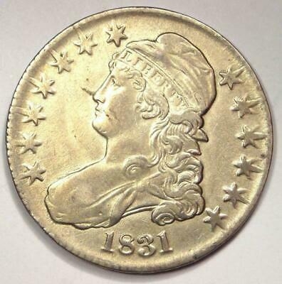 1831 Capped Bust Half Dollar 50C - Sharp AU Details - Rare Date Coin!
