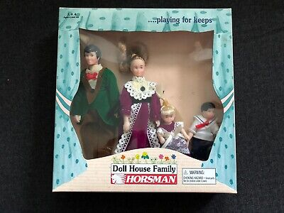 Vintage HORSMAN Victorian Doll House Family w Box 1995 nos sealed unopened 60046
