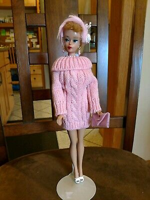 Barbie Fashion Pink Sweater Dress Pure Mint!   +Extras  Xmas Special!