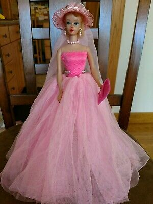 Barbie Fashion Pink Gown Pure Mint!   Gorgeous!  +Extras  Xmas Special!