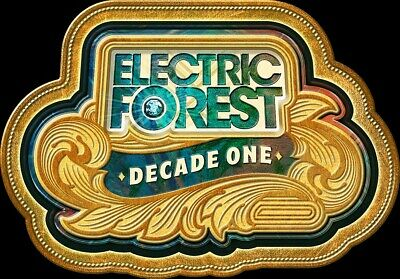 Electric Forest 2020 4-day ticket Decade one general admission wristband