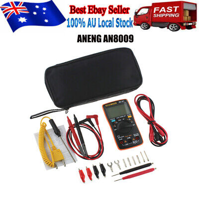 ANENG AN8009 Digital Clamp Meter Multimeter Handheld RMS AC/DC Mini Resistance