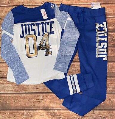 NWT Justice Girls Winter With Matching Joggers Outfit Size 12