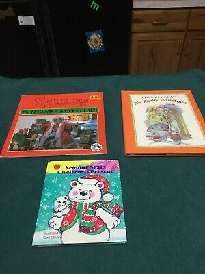 Lot of 3 Children's Christmas Stories Semour Seal, It's Really Christmas, Santa