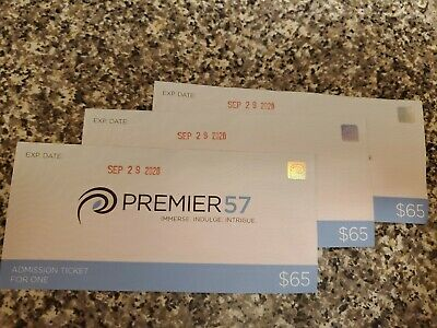PREMIER 57 Three 3 Admission tickets Manhattan Day Spa (pools, jacuzzi) $45 each