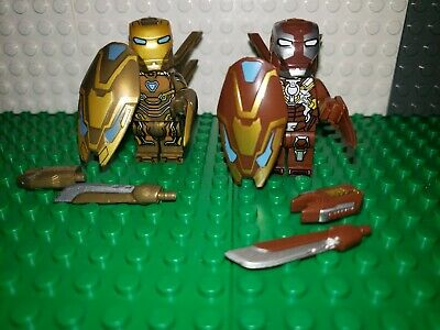 Iron Man AVENGERS minifigure Lot 43 End Game suits ironman fits lego