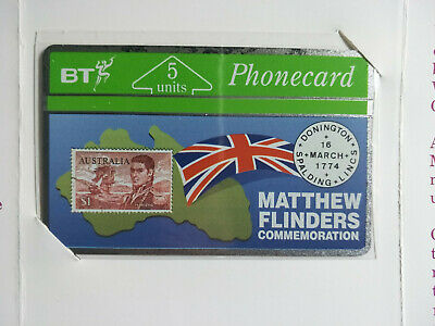 Mint BT 5 Unit Matthew Flinders Limited Edition Phonecard Brochure 175 of 500
