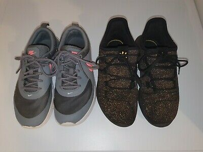 Girls nike air max thea and adidas tubular shadow trainers UK Size 1