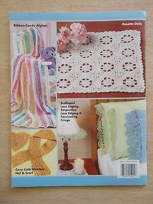 ASN #1360~Learn To Do HAIRPIN LACE~24pp P/B~2004~Afghan~Hat~Scarf~Doily~Edges...