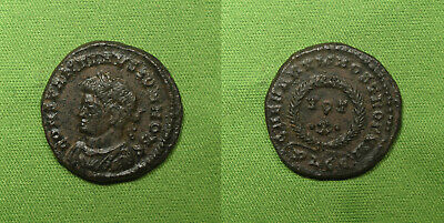 Constantine II AE Follis Lyons mint 323-4 AD Vows of Ten years rev. NICE dies!