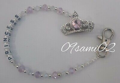 Personalised Bling Dummy Clip,pink&white Crystal ❤romany❤diamante crown