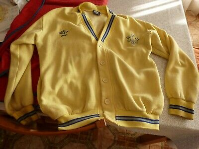 Cardigan Original Años 80 Everton Football Club-Talla L-Umbro-Ver Fotos