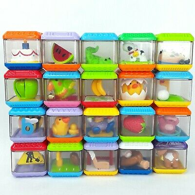 Peek a Boo toy baby blocks Fisher Price Bulk LotB