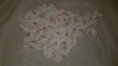 Gorgous white pink floral POWELL CRAFT top trousers pyjama set Age 6 7 Years
