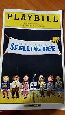 The 25th Annual Putnam County Spelling Bee Playbill 2006 San Francisco