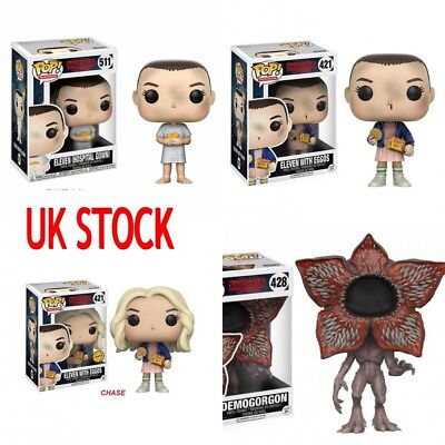 UK Funko POP Stranger Things Eleven With Eggos HOSPITAL GOWN Figure Xmas Gift