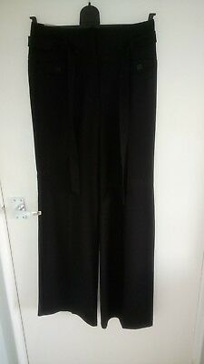Ladies Black H&M Wide Leg Trousers Size 10 Brand New with Tags