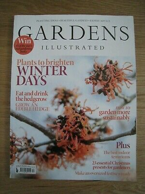 Gardens Illustrated December 2019 Only £5.50!!!!!! + Free P&P