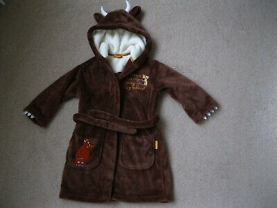 Gruffelo dressing gown hooded. Boys age 2 to 3. Brown. M&S