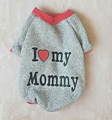 older kitten LOVE MY Mommy cute winter top for a Sphynx  cat clothes, pet jumper