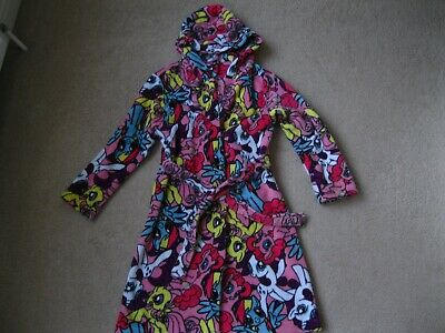 My little Pony girls dressing gown hooded. George. Pink. Age 11 to 12